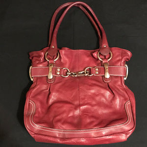 Large Red B. Makowsky Tote Excellent Condition